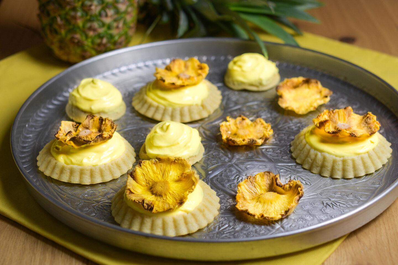 Ananas-Tartelettes Ananascurd-Vanillefüllung