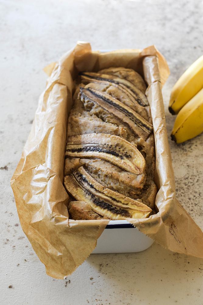 Veganes Bananenbrot mit Walnüssen