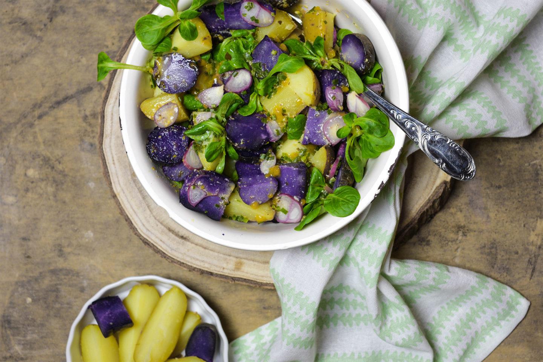 Schwäbischer bunter Kartoffelsalat
