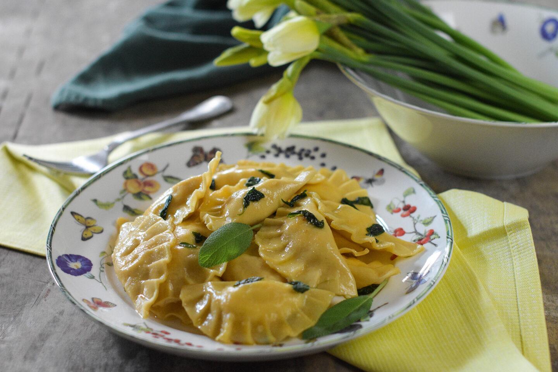 Ravioli mit Shrimps-Ricotta-Salbei-Füllung