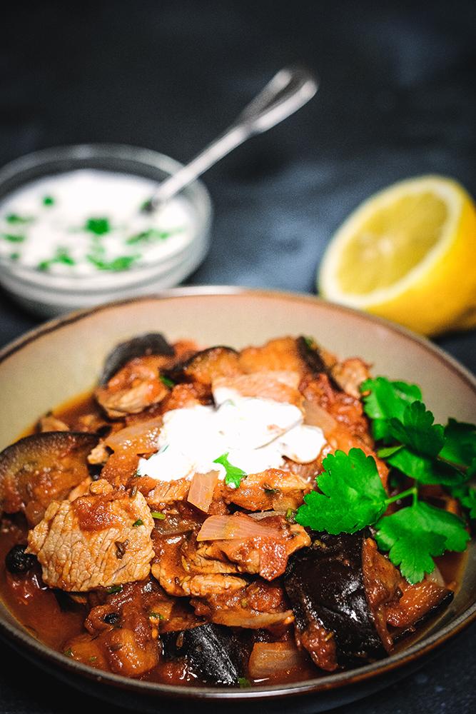 Orientalisches Lamm mit Aubergine und Joghurt 1