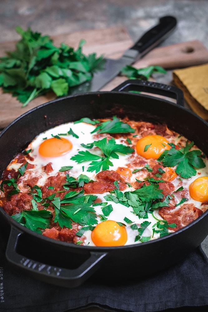Schakschuka, ein orientalisches Tomatengericht
