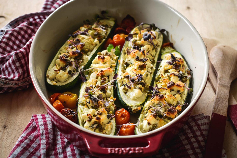 Gefüllte Zucchini - Einfach, lecker, schnell!