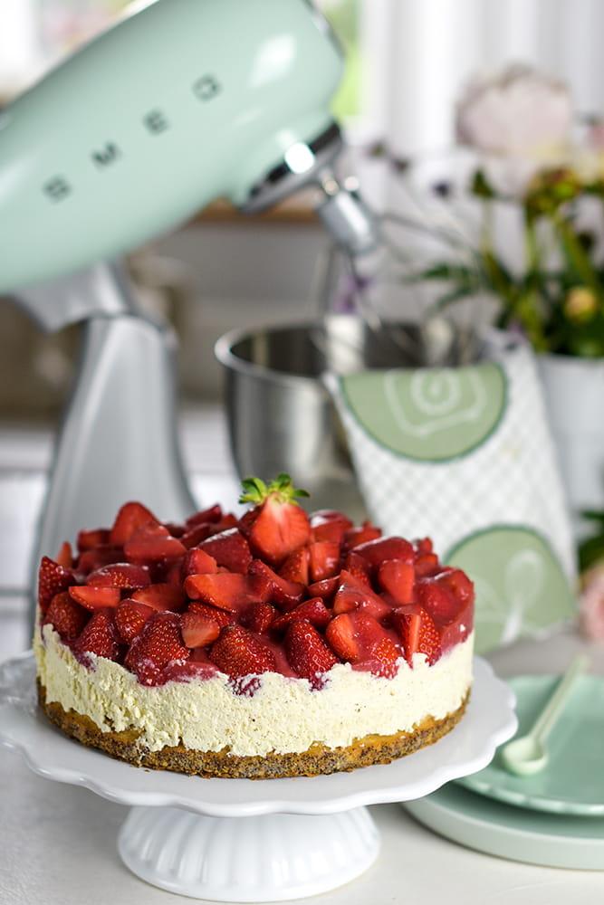 smeg-Erdbeer-Mohnkuchen