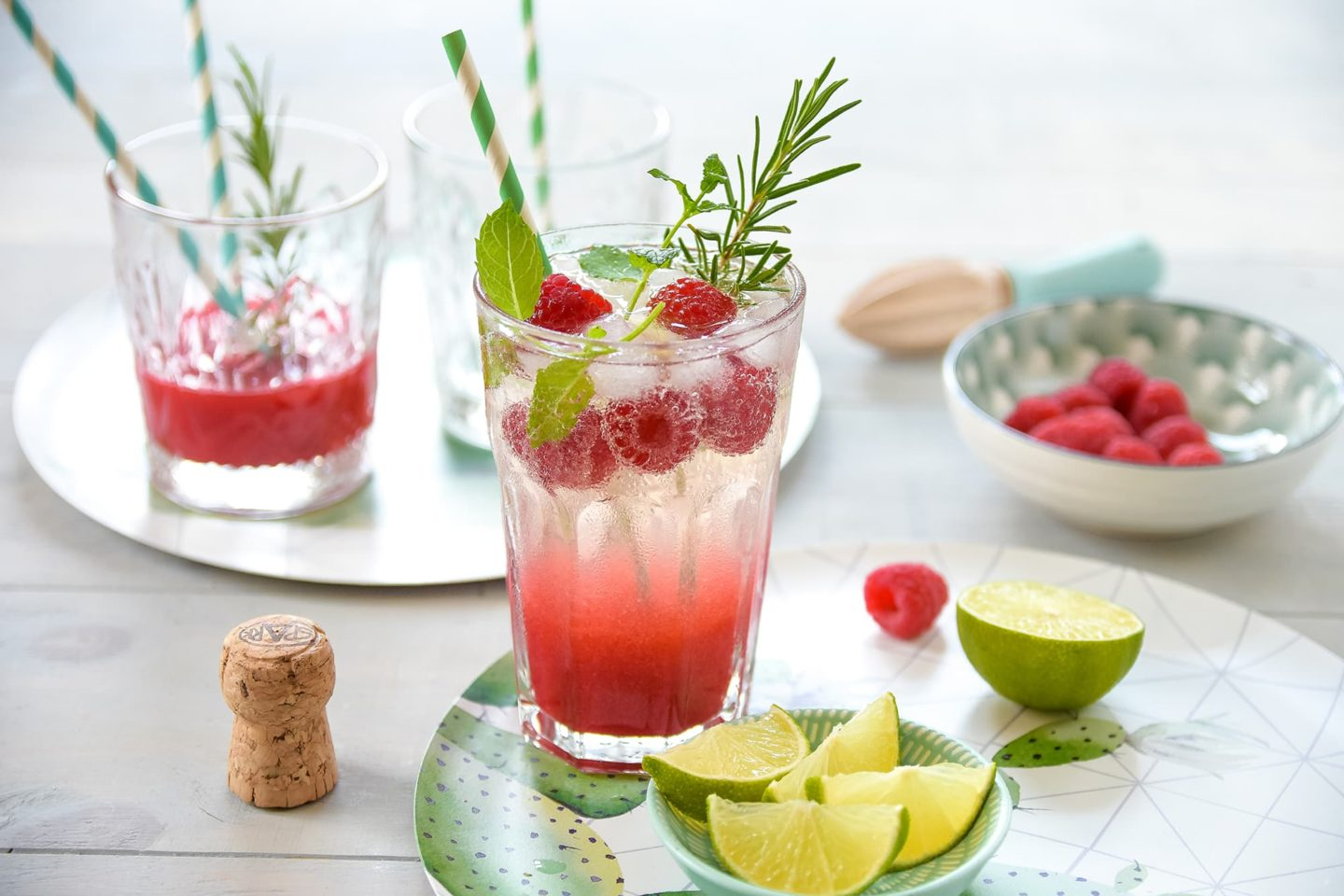 Himbeer-Gin-Prosecco