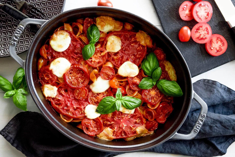 Tomaten-Orecchiette-Auflauf