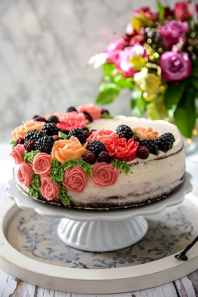 Brombeer-Schokoladen-Torte