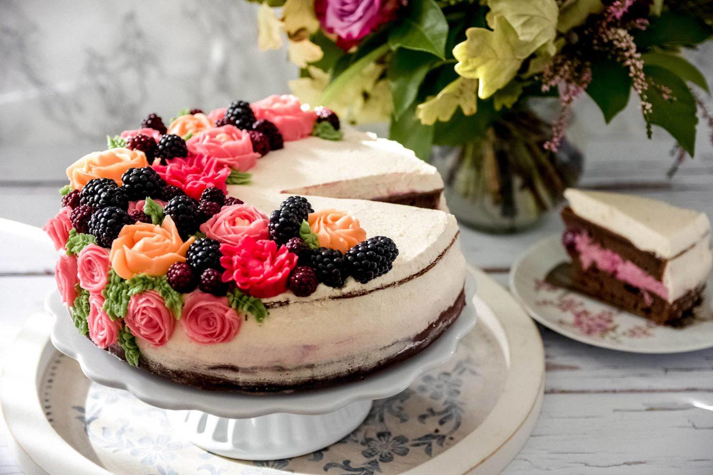 Brombeer-Torte