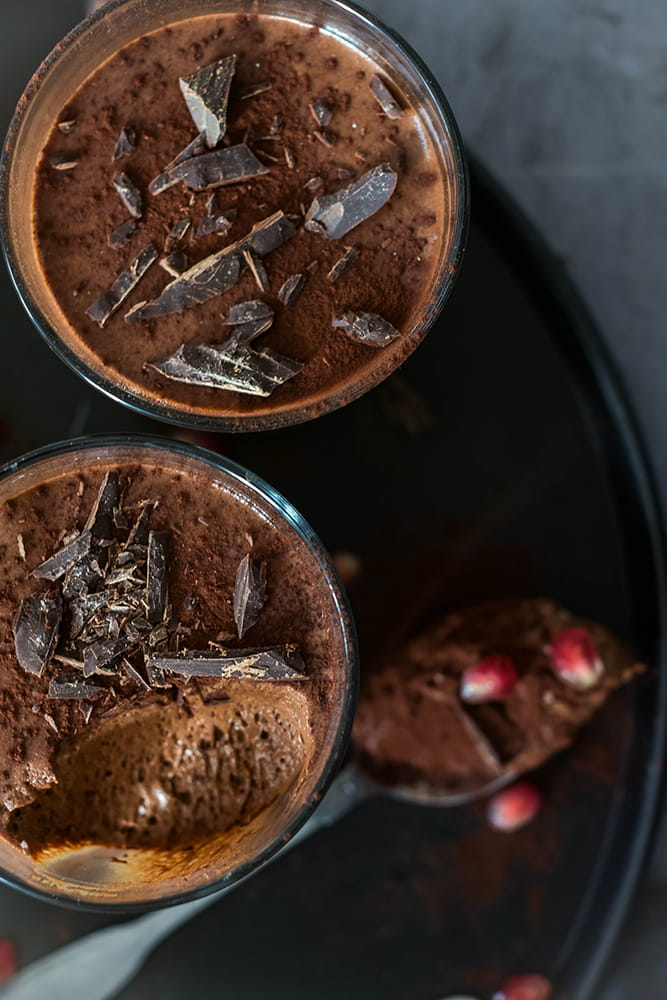 Luftig cremiger Schokoladenschaum