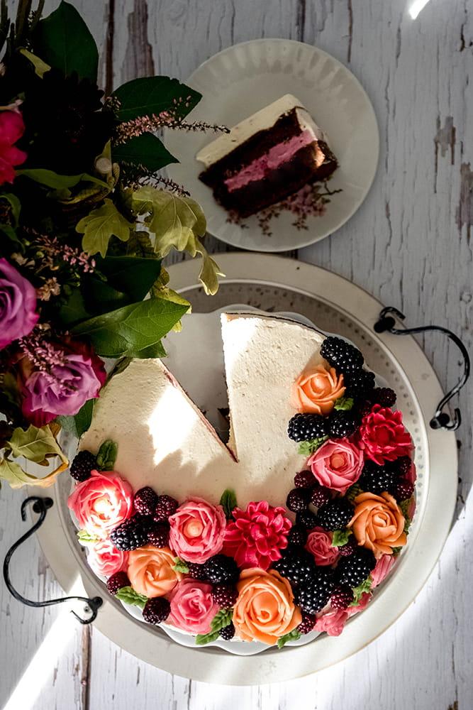 Schoko-Brombeer-Torte