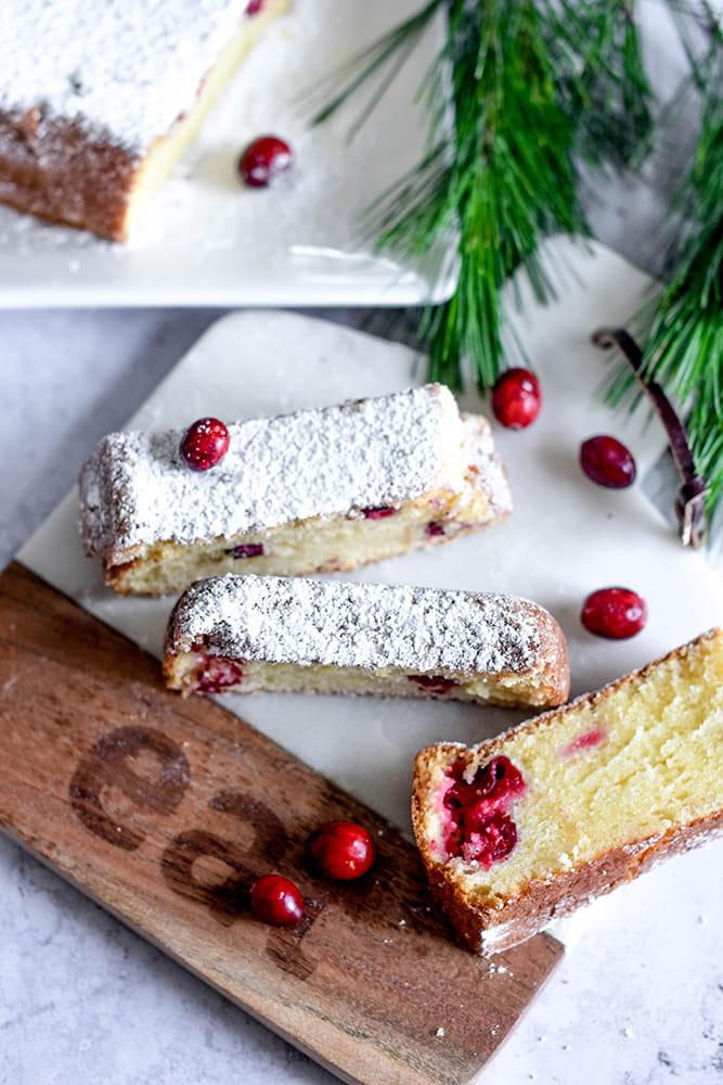 Cranberry-Vanille-Kuchen