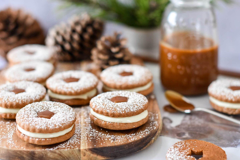 Salted Caramel Kekse mit Creme