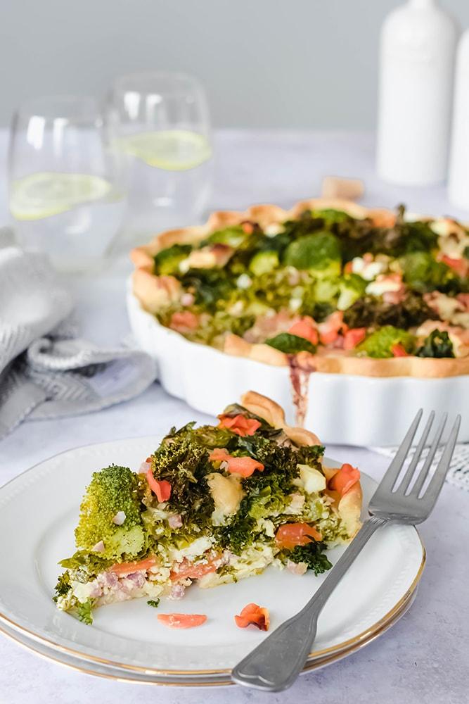 Gemüse-Quiche, Grünkohltarte