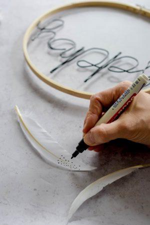 DIY-Dekorationsring mit Drahtschrift