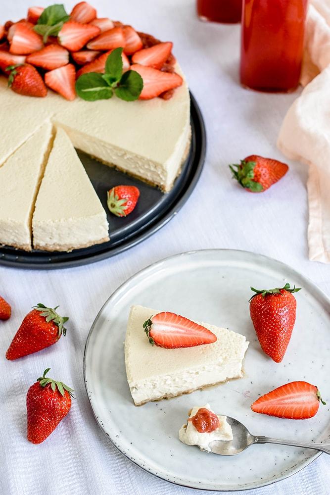 American Cheesecake mit Früchten