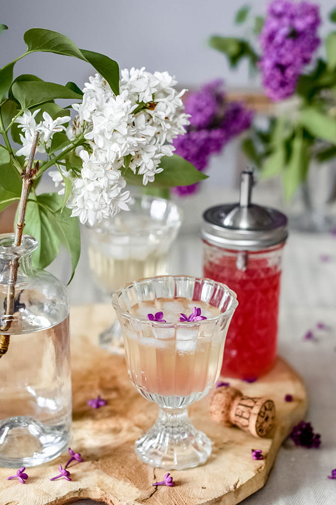 Fliedersirup-Cocktail