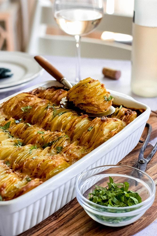 Kartoffelgratin mit indischen Gewürzen
