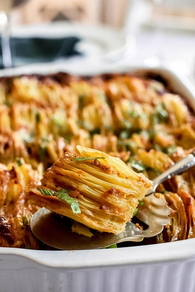 Kartoffelgratin indischer Art