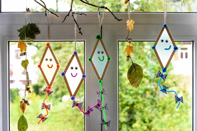 Kinderdekoration einfache Drachen basteln