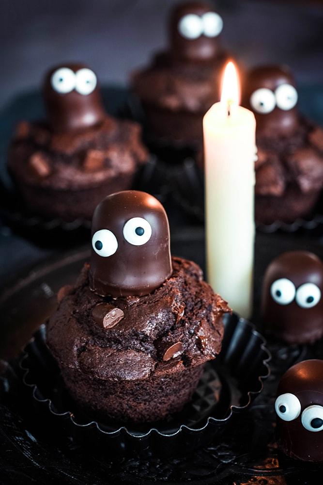 Schokoladenmuffins Halloween