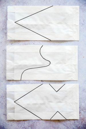Papierstern Muster