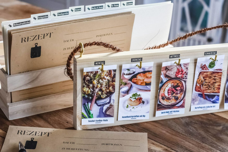 DIY Wochenspeisenplan & DIY Rezeptkarten