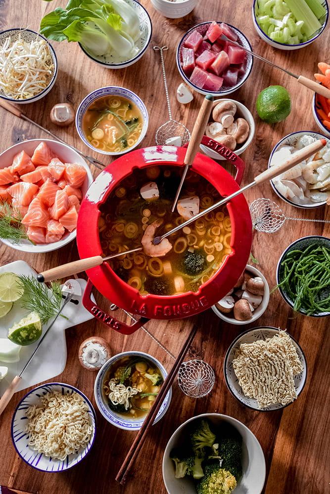 Fischfondue thailändisch