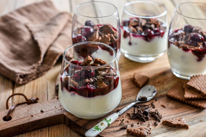 Schwarzwälder-Kirsch-Dessert