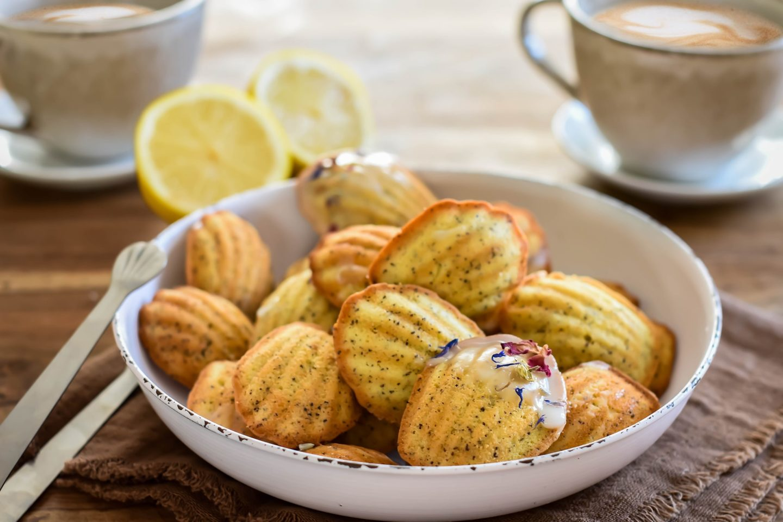 Zitronen-Mohn-Madeleines