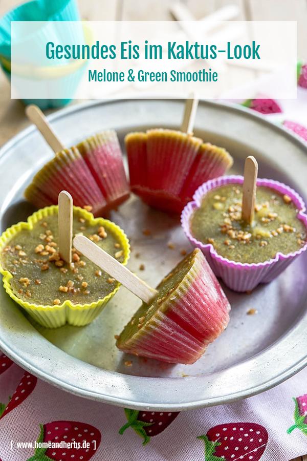 Gesundes Kinder-Eis im Kaktus-Look