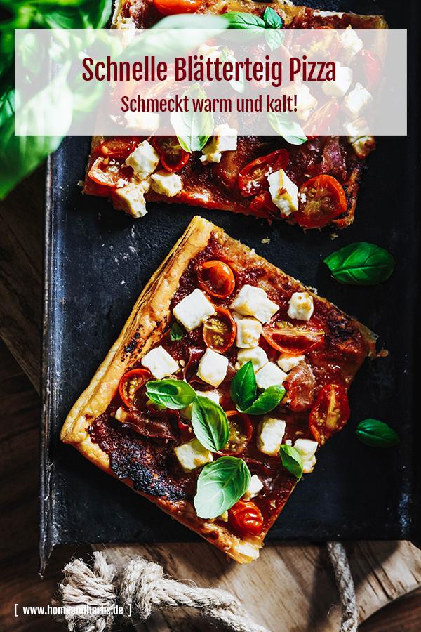 Blätterteigpizza - schnell und einfach