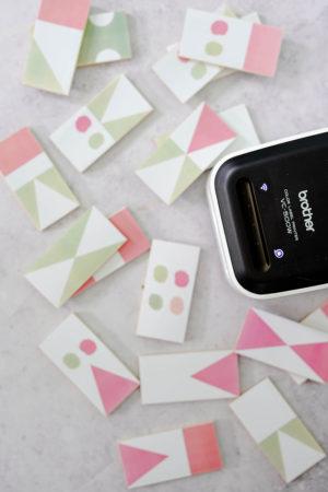 Dominosteine basteln mit dem Brother Color-Label-Printer VC-500W