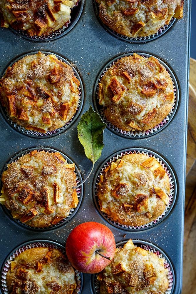 Apfel-Mandel-Muffins
