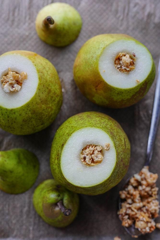 Dessert: Birne im Schlafrock