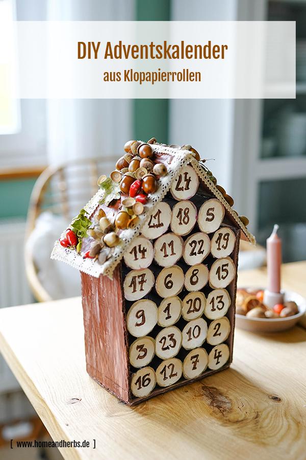 DIY Adventskalender aus Klopapierrollen