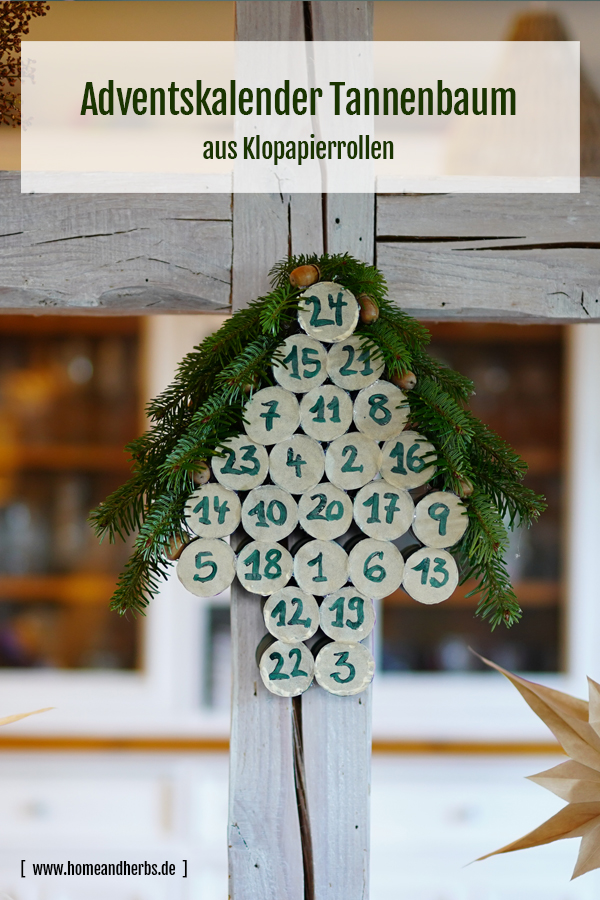 DIY Adventskalender Tannenbaum