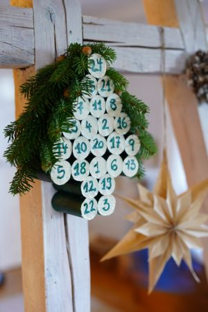 Tannenbaum Adventskalender-DIY
