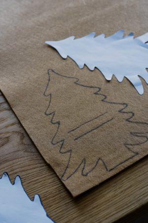 Bestecktaschen Vorlage ausschneiden