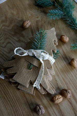Geschenkidee Tannenbaum Bestecktaschen