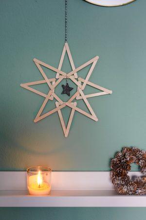 Stern für Weihnachten basteln