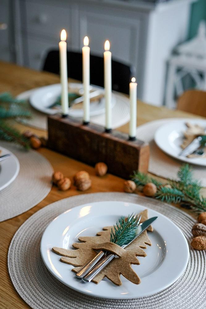 Tischdeko Weihnachten natur