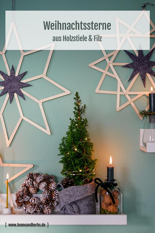 Dekorative Weihnachtssterne basteln