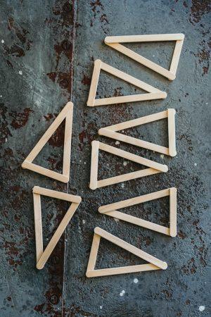 Weihnachtssterne Holzstiele