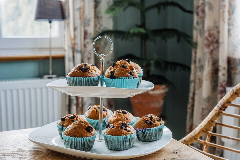 Saftige Blaubeer Schokoladenmuffins