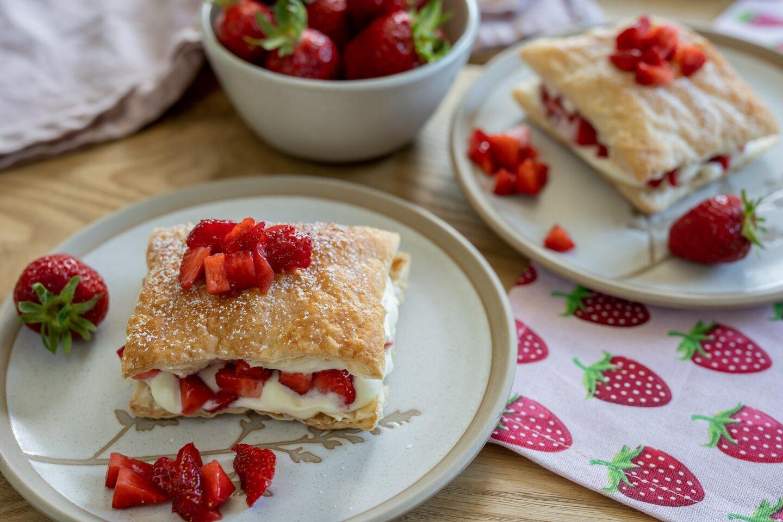 Blätterteig-Erdbeer-Küchlein