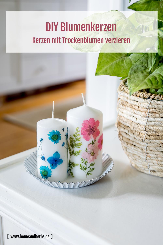 Blumenkerzen DIY