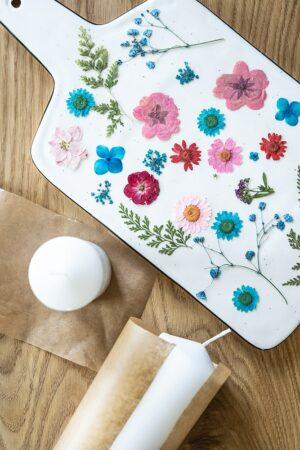 DIY-Blumenkerzen - Süße Geschenkidee