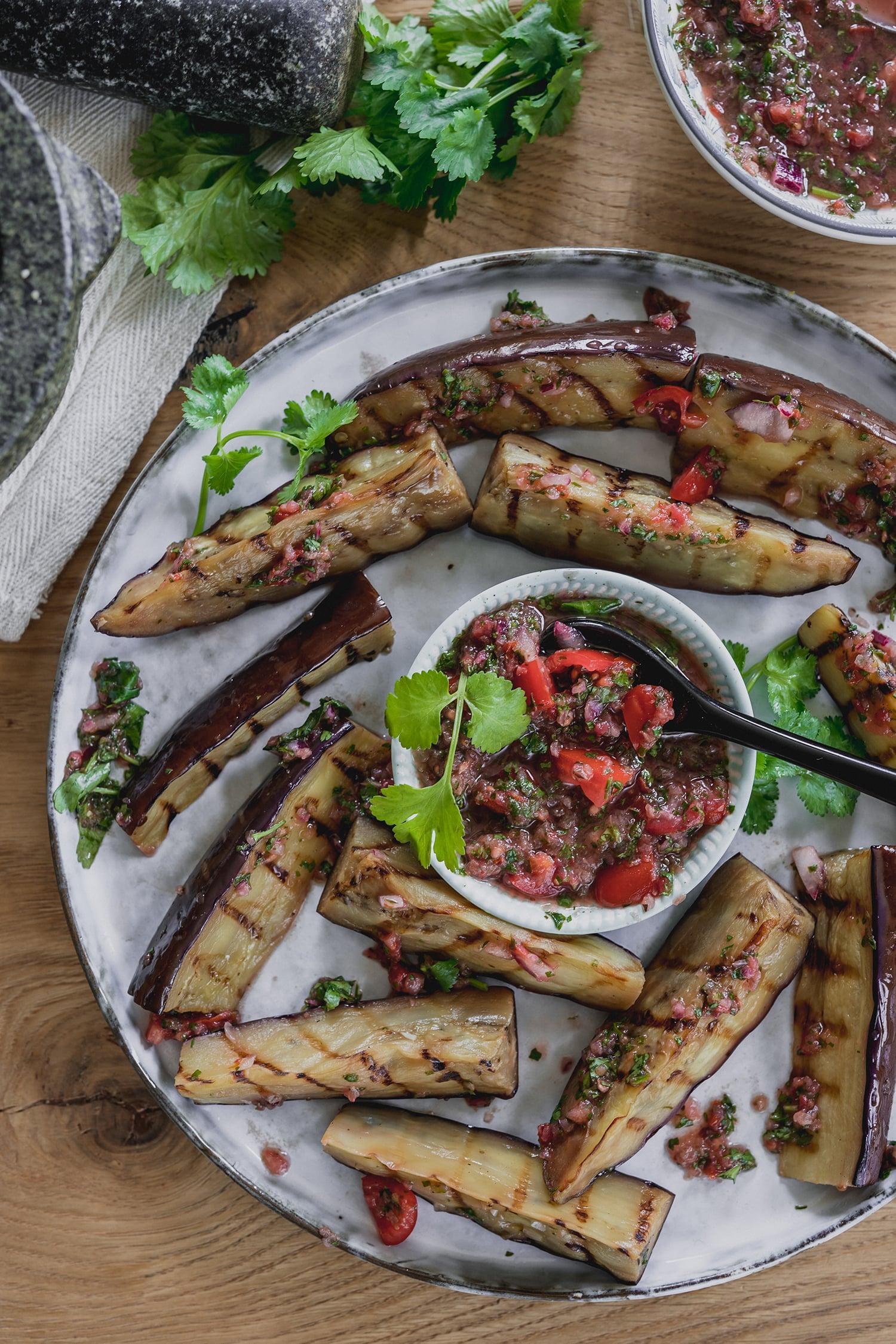 Mexican Salsa Auberginenrezept