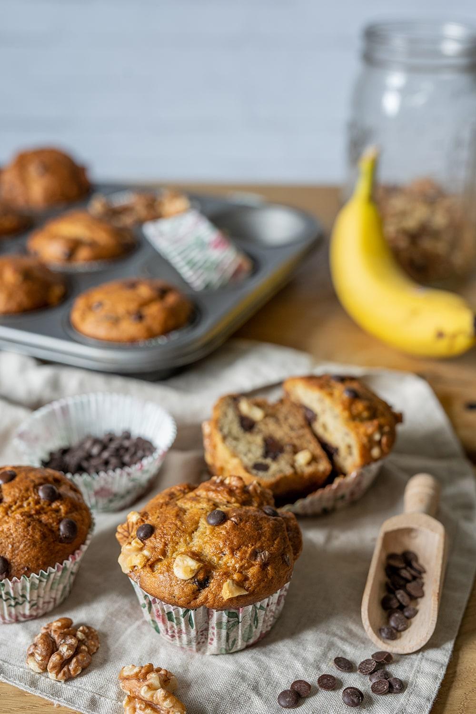 Einfache Bananenmuffins